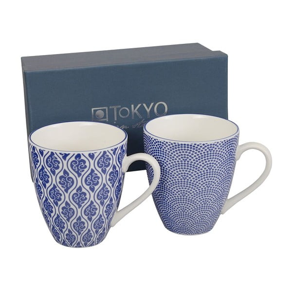 Set hrnků Nippon Blue Dots & Clouds, 2 ks