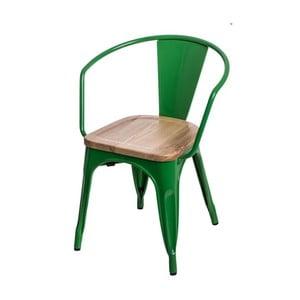 Tmavě zelená židle D2 Paris Arms Ash Wood