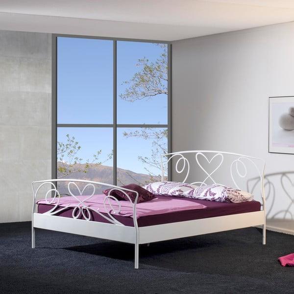 Kovová postel Toscana 160x200 cm, bílá