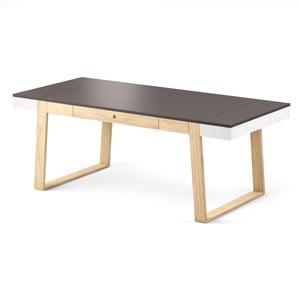 Jídelní stůl z dubového dřeva s šedými detaily Absynth Magh, 198x100cm
