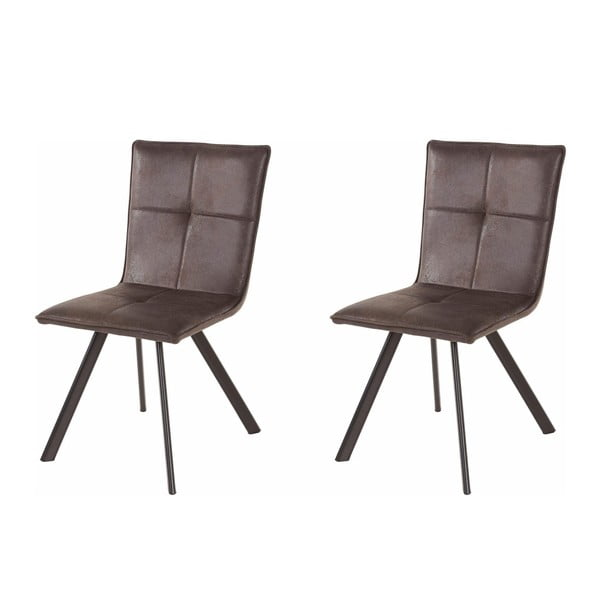 Set 2 scaune Støraa Peter, gri închis