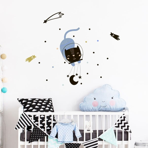 Set autocolante pentru perete Ambiance Scandinavian Animals In The Stars
