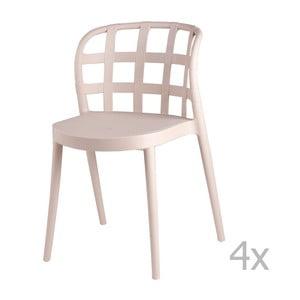 Set 4 scaune sømcasa Gina, bej