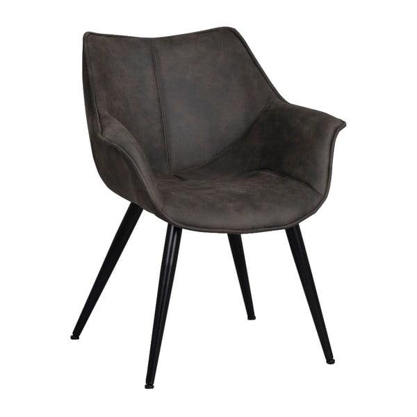 Čierna stolička s čiernym kovovým podnožím Rowico Echo