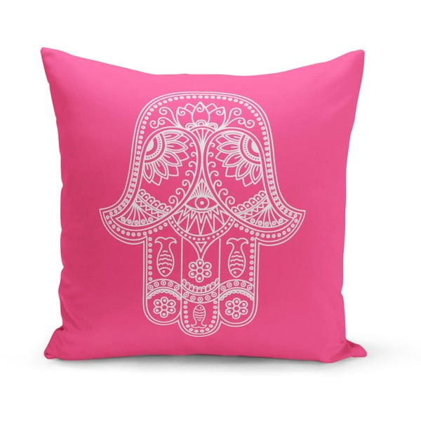 Růžový polštář Kate Louise Zumba, 43 x 43 cm