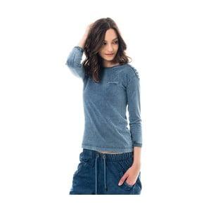 Bavlněné tričko barvené indigem Lull Loungewear Genes New Style, vel.S