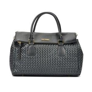 Černá kožená kabelka Carla Ferreri Sposso Lento