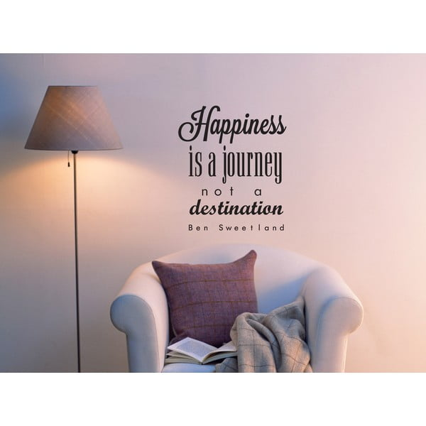 Dekorativní nástěnná samolepka Happiness