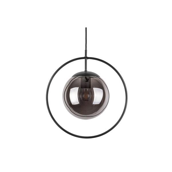 Round szürke-fekete kerek függőlámpa, magassága 38 cm - Leitmotiv