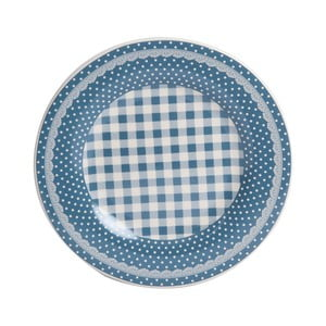 Dezertní talíř Blue Dots&Checks, 20.5 cm
