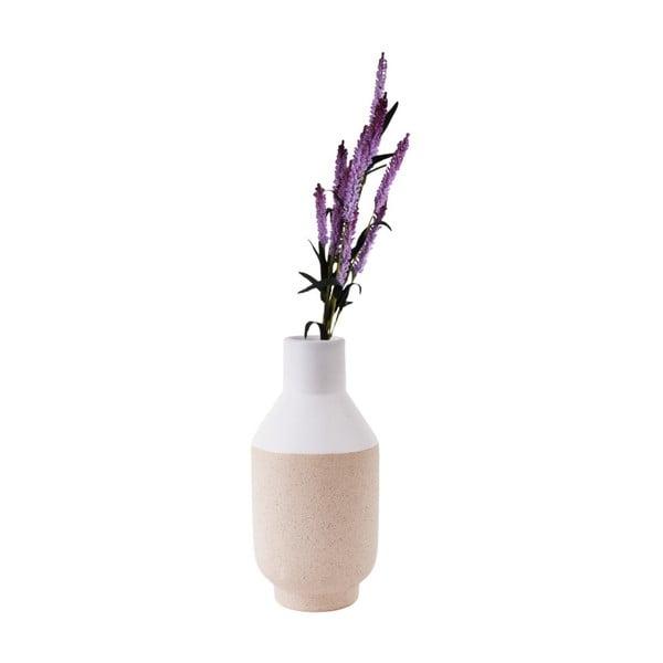 Bílá keramická váza PT LIVING, výška 25 cm