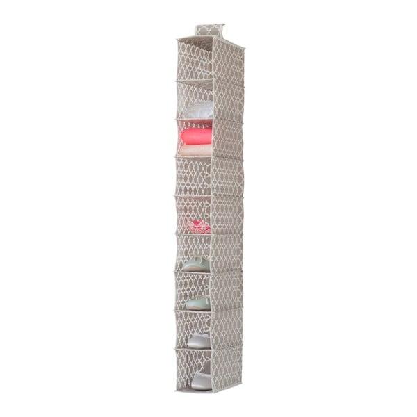 Bézs függő rendszerező 9 rekesszel, szélesség 15 cm - Compactor