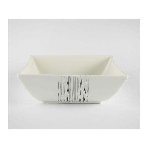 Salátová porcelánová mísa Silver Line, 24 cm