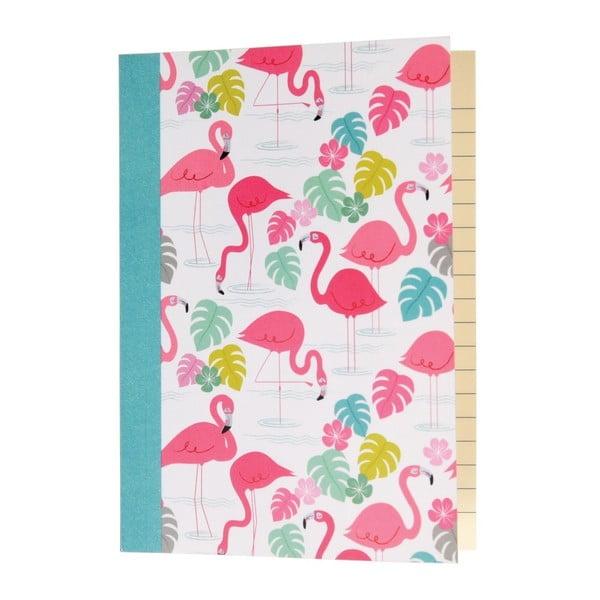Zápisník A6 Rex London Flamingo Bay