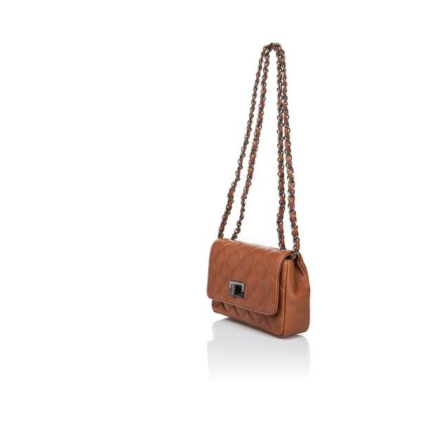 Světle hnědá kožená kabelka Markese Nappa