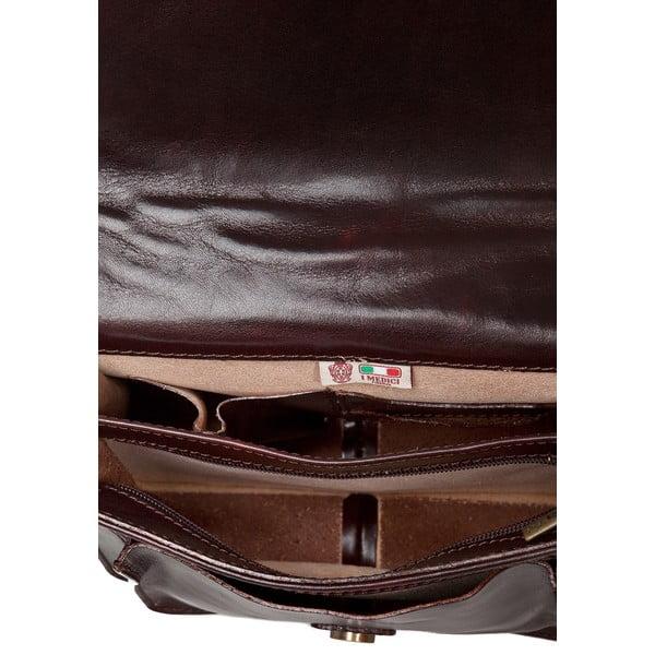Čokoládově hnědá dámská kabelka ztelecí kůže Medici of Florence Daniele