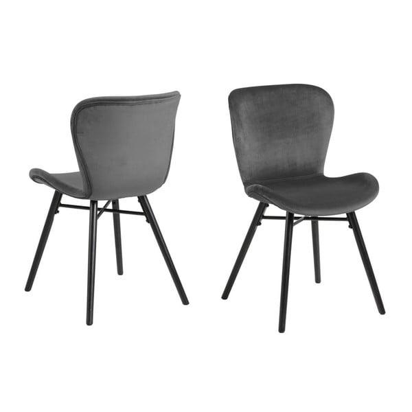 Szare krzesło Actona Batilda