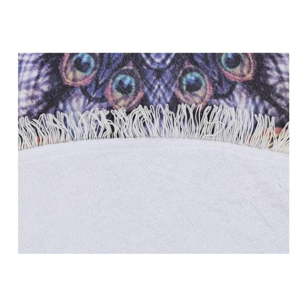 Barevná plážová osuška z bavlny Sharma, ⌀ 150 cm