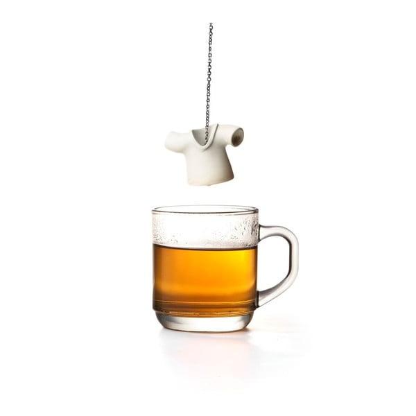 Białe sitko do herbaty Qualy&CO Tea Shirt