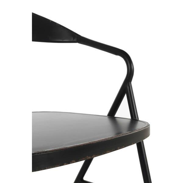 Černé kovové křeslo Geese Industrial Style Puro