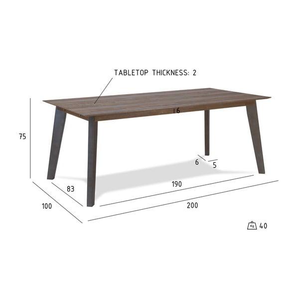 Jídelní stůl z akáciového dřeva Furnhouse Malaga