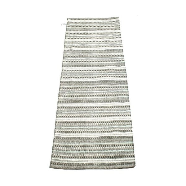 Koberec Stripes 70x200 cm, černobílý