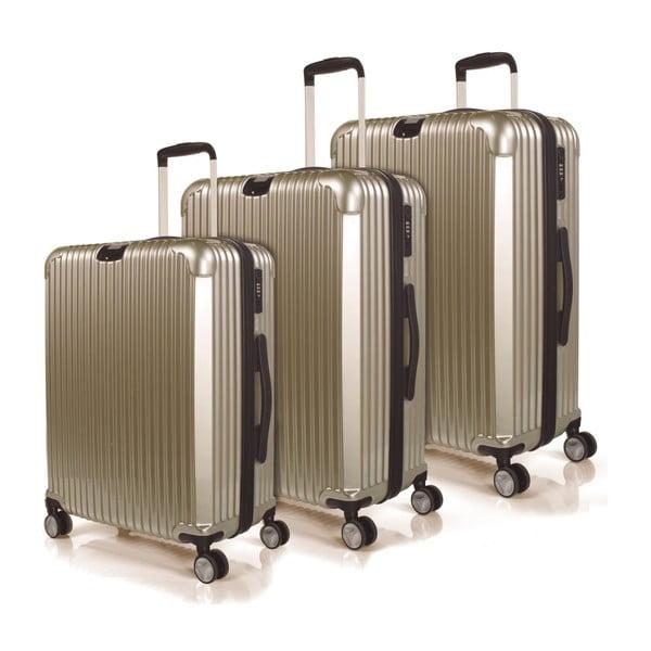 Sada 3 kufrů Jaslen, zlatá