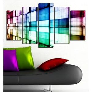 5dílný obraz Hra barev