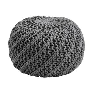 Pletený puf Bosie, šedý