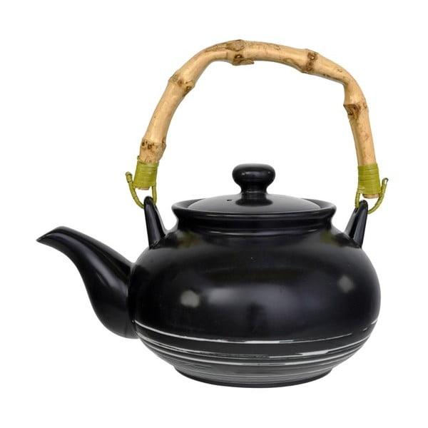 Čierna kanvička na čaj Tokyo Design Studio Maru, 500 ml