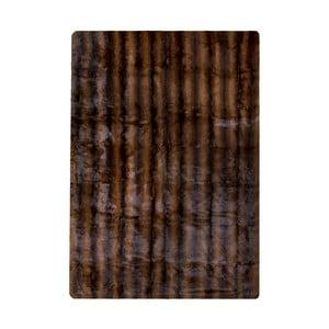 Hnědý koberec z králičí kůže Pipsa Blanket, 180x120cm