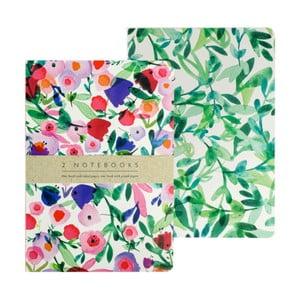 Sada 2 zápisníků A5 Portico Designs Victorian Garden, 100stránek
