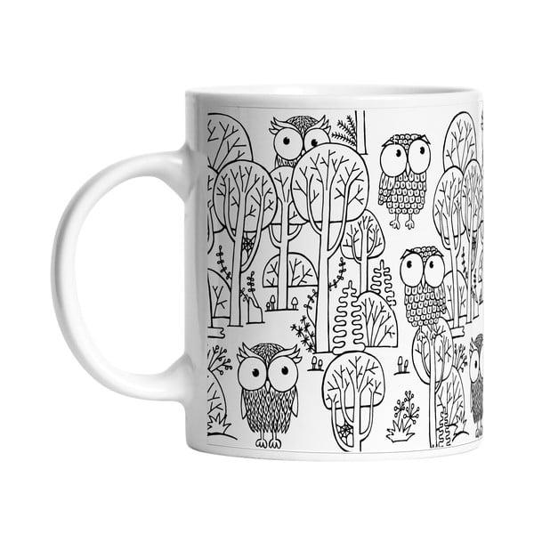 Keramický hrnek A lot of Owls, 330 ml