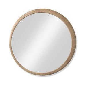 Nástěnné zrcadlo s rámem z dubového dřeva Wewood - Portuguese Joinery Luna, Ø120cm