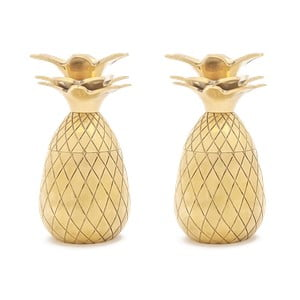 Set 2 pahare tărie W&P Design Pineapple, auriu