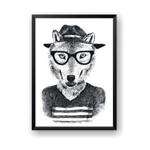 Plakát Nord & Co Hipster Wolf, 40 x 50 cm