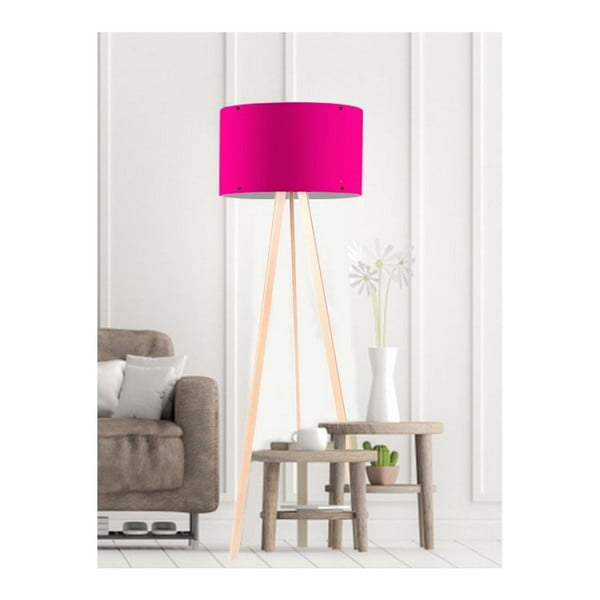 Tmavě růžová stojací lampa Simple