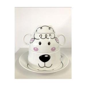 Dětský snídaňový set z kostního porcelánu Silly Design Sweet Sheep