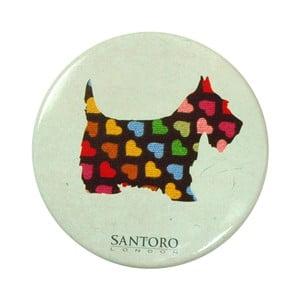 Kapesní zrcátko s pouzdrem Santoro London Scottie Dogs