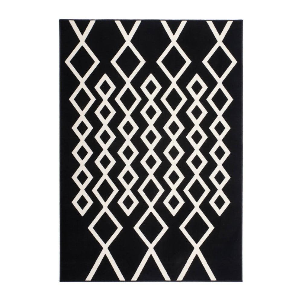 Černo-bílý koberec Kayoom Sentosa Peer, 200 x 290 cm