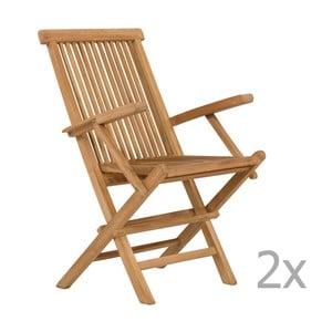 Set 2 scaune de grădină din lemn de tec SOB Garden