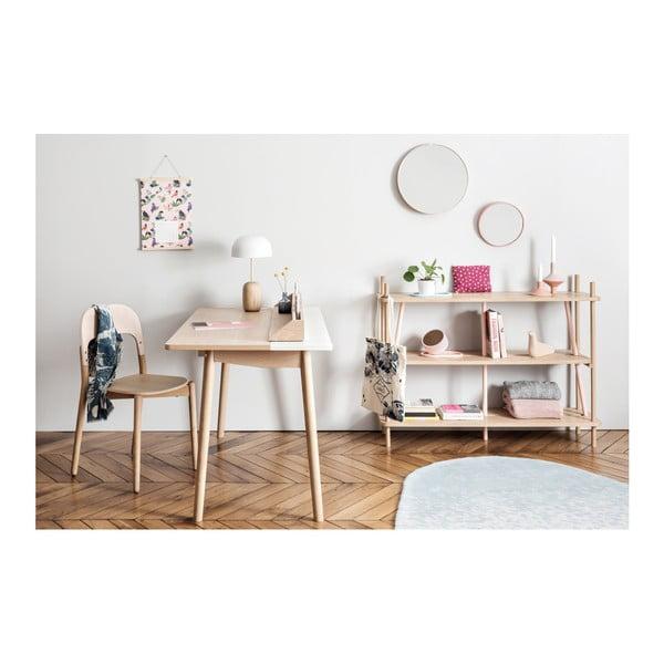 Pracovní stůl z dubového dřeva s červenou zásuvkou HARTÔ Honoré, 140x70cm