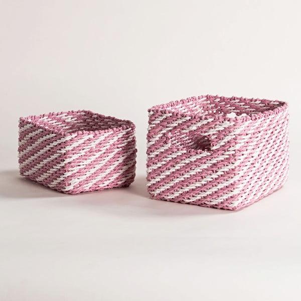 Sada 2 růžových úložných košíků Compactor Basket Claudie