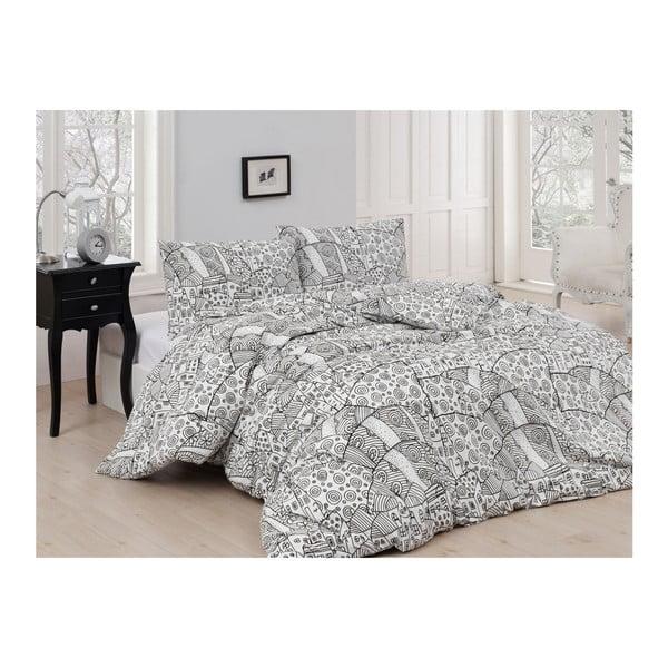 Lenjerie de pat din bumbac cu cearșaf Magic, 200 x 220 cm