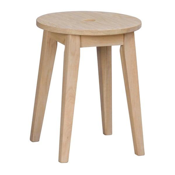 Matně lakovaná dubová stolička Rowico Gorgona, výška 44 cm