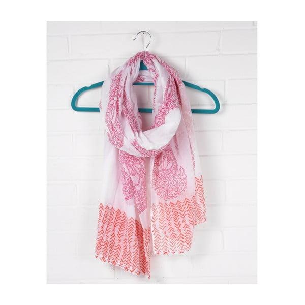 Šátek Print Paisley Hot Pink