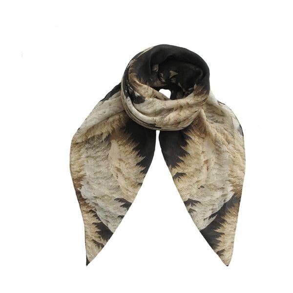 Vlněný šátek s kašmírem Cleo, 130x130 cm