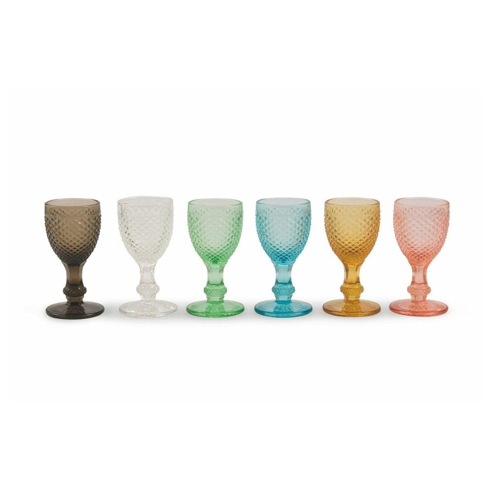 Sada 6 barevných sklenic na likér Villa d'Este Diamond Liquore Colori, 50ml