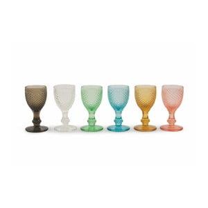 Sada 6 sklenic Villa d'Este Diamond Liquore Colori