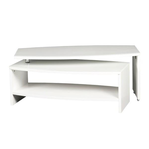 Bílý variabilní konferenční stolek Folke Cecilia